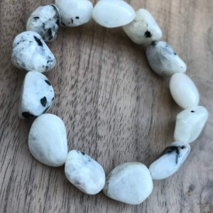 MOONSTONE TUMBLED CRYSTAL BRACELET