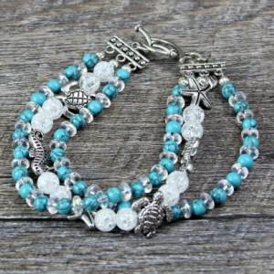 Triple Strand Sea Life Bracelet
