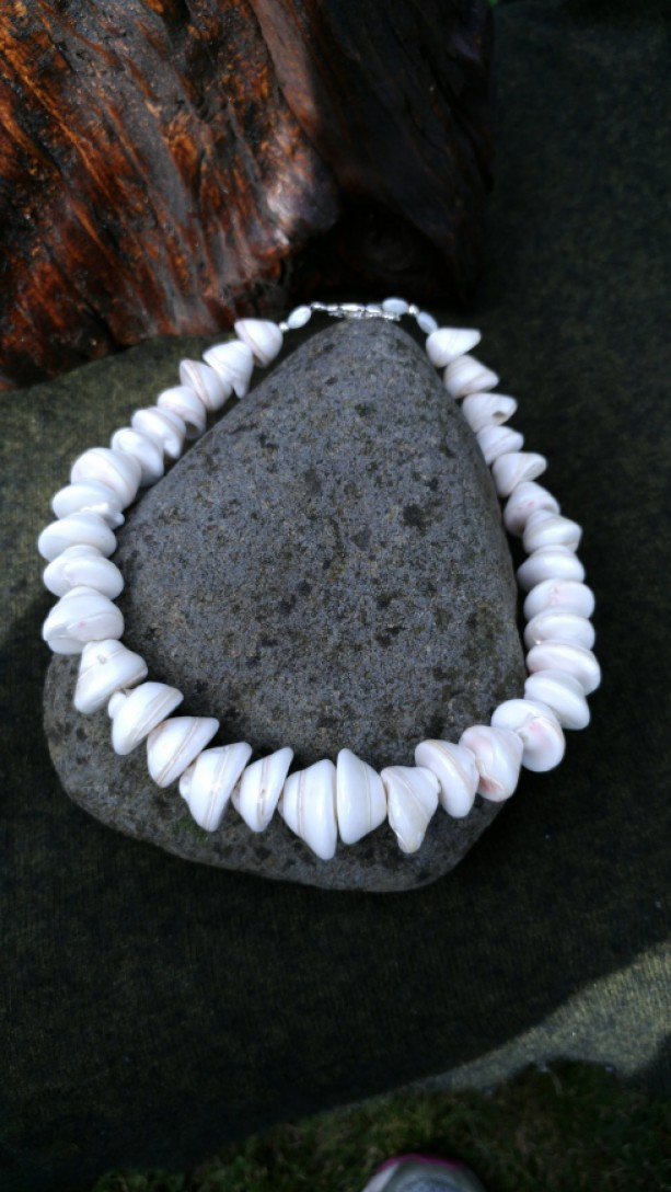 White Cone Shell Necklace