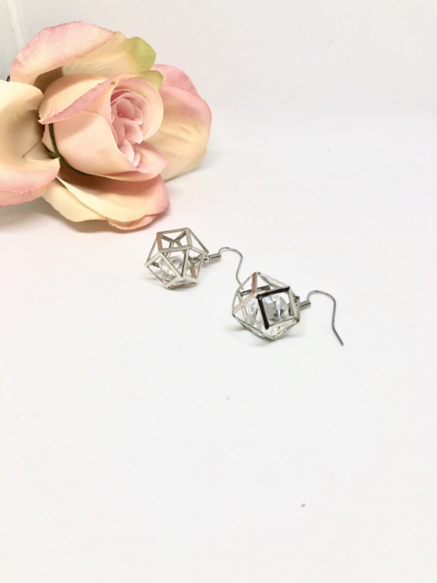 Shaped Diamond Dangle Earrings
