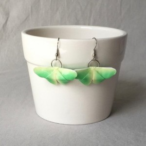 Green & Yellow Origami Butterfly Earrings