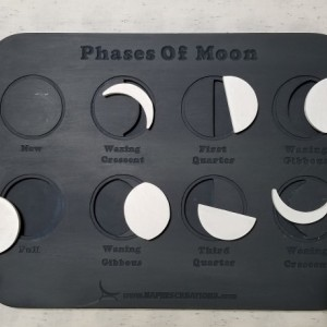 Personalized Montessori Phases of Moon - Moon Cycles Puzzle for Kids, Lunar Phase, Montessori Nature Elements Toddlers Learning - MP101