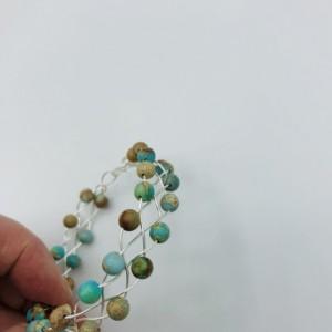 Silver Celtic Weave Bracelet with Jasper