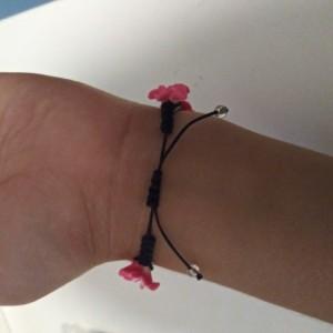 Dark Pink Hawaiian Shamballa Bracelet