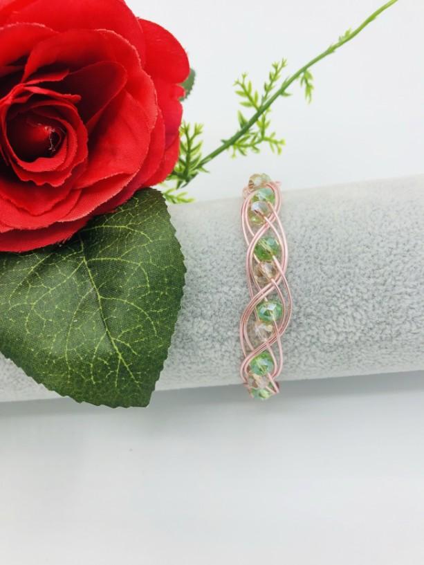 """7"""" Rose Gold Braided Bracelet"""