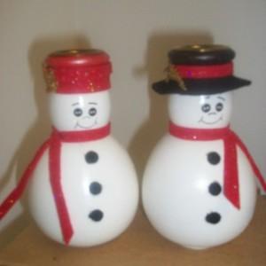 Snowman Candleholders