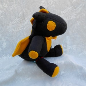Black and Gold Small Dragon