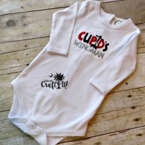 Valentines Day Boys Tshirt, Toddlers, Infants,Heart, Cupids Wingman,Personalized, Embroidered, Appliqued