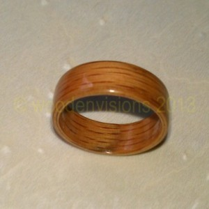 Hand Made ( Bentwood Method ) Red Oak wooden ring