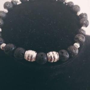 Unisex Natural Lava Stone Bracelet
