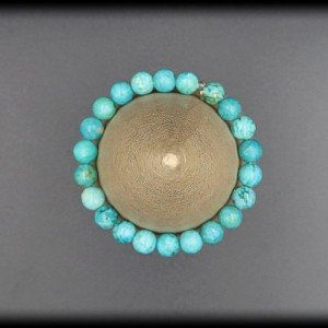 Turquoise Solid Bracelet for Depression and Panic Attacks