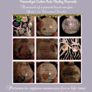 Personalized Floating Ornaments