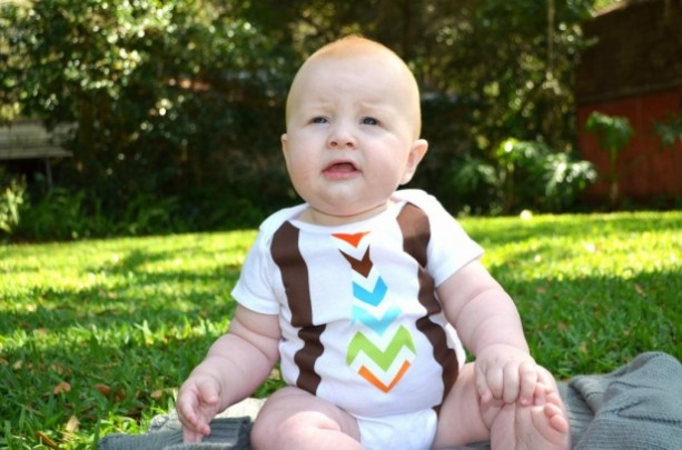 Little Mister Tie Onesie with Suspenders
