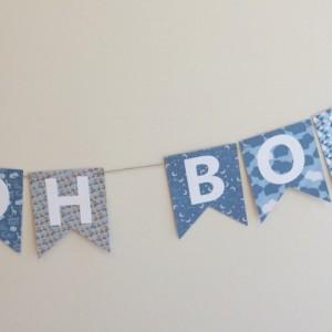 Oh Boy Oh Boy Banner - Baby Shower Banner - Baby Shower Decoration - Baby Boy - Boy Baby Shower - Oh Boy!