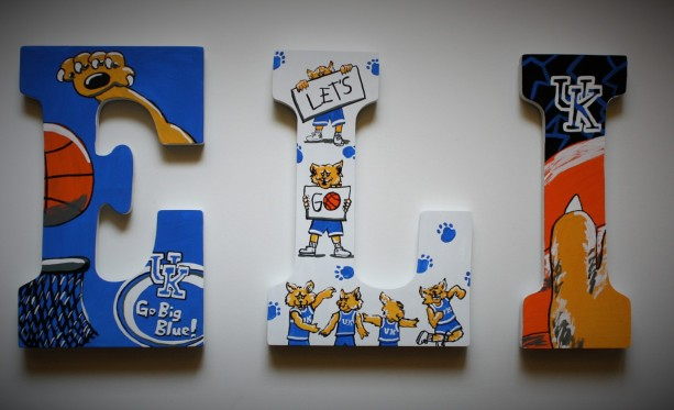 Handpainted Sports Wall Letters -- Price per letter