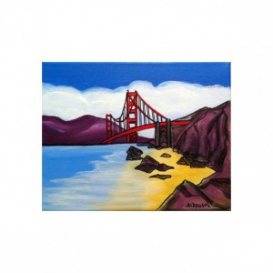 "San Francisco Golden Gate Bridge #4 - 8""x10"" PRINT Signed By Artist A.V.Apostle"