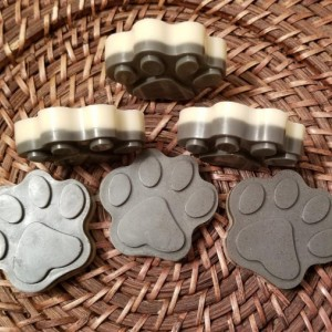 "Set Of 3 All Natural Handmade ""Paw Print"" Organic Soap"