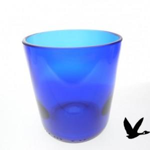 Blue reisling wine bottle upcycled tumbler groomsman gift weddings events