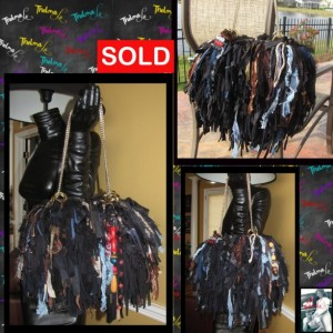 Black Brown Blues Reds Custom Made fringe handbag,unique,one of a kind,upcycled