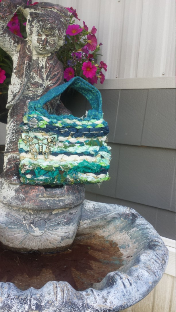 Ooak Haute Couture Woven Glam Clutch