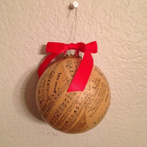 Vintage 1800's and early 1900's Hymnal ornament