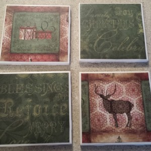Country Christmas Drink Coasters