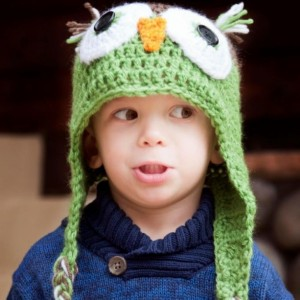 Adorable Hand-Crocheted Owl Hat, sizes infant to adult