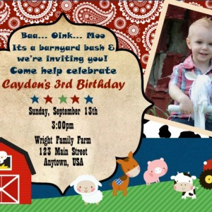 Farm Friends Birthday Invitation, Invitations, Birthday, Farm Party