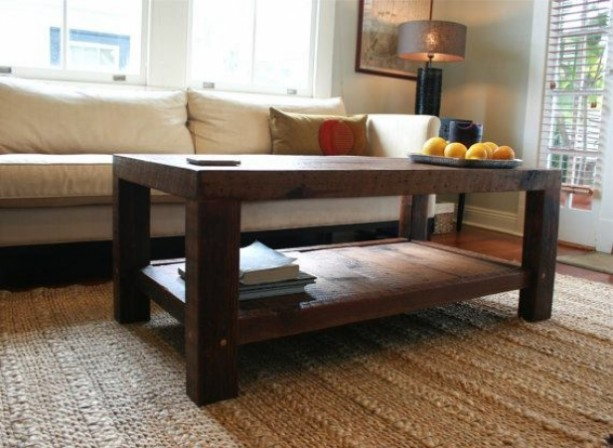 Ordinaire Oversized Coffee Table Made From New Orleans Barge Board