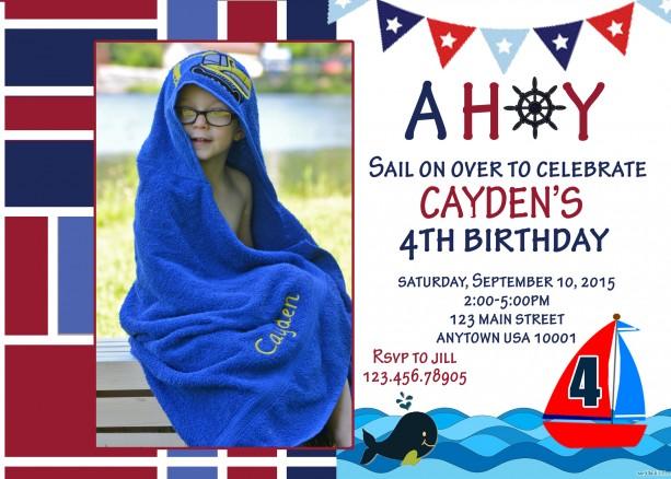 Sailboat Birthday Invitation Invitations Boat Party Boats – Boat Party Invitation