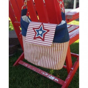 OOAK Americana patriotic crossbody shoulder bag