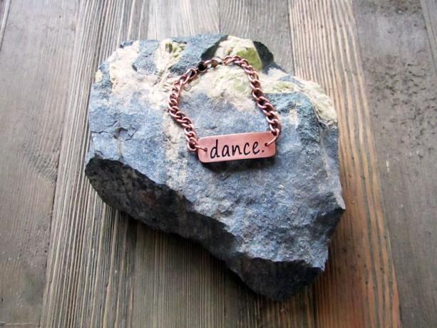 Copper 'Dance' Metal Clay Bracelet