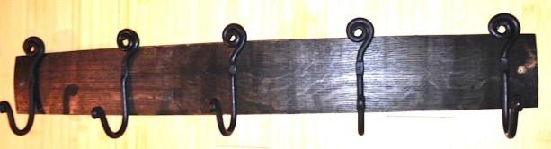 Barrel Stave Hook Rack