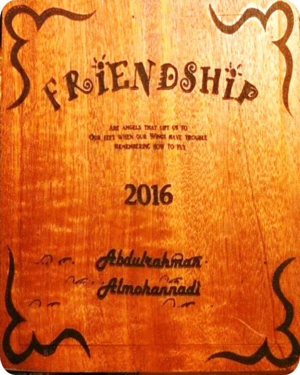 Engrave anything on wooden surface