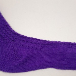 Purple Knit Cable Socks