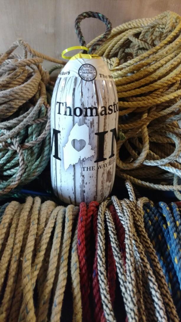Thomaston Maine! A real Maine lobster buoy!