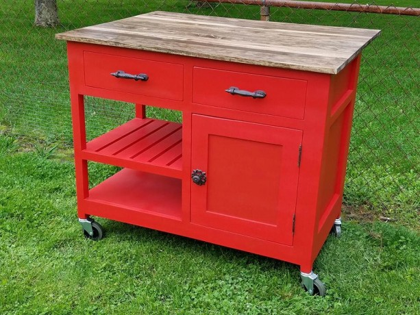 Customizable kitchen island kitchen storage rolling for Rolling kitchen island with seating