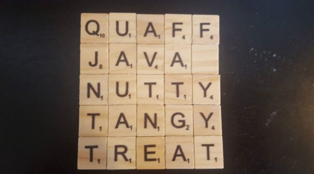 Set of 4 Large Size Scrabble Tile Coasters