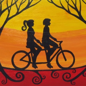 """Tandem Ride 4"" original painting"