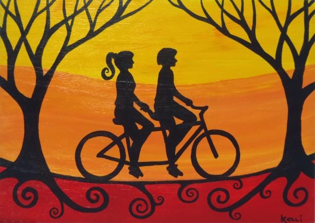"""Tandem Ride 4"" original painting"