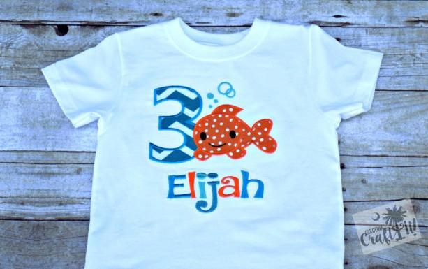 Goldfish Birthday T Shirt Boy Shirts Toddlers Numbers 1