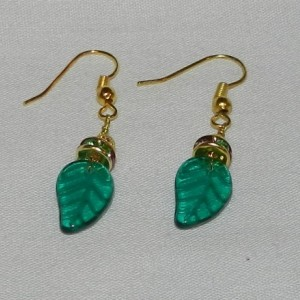 14K Gold Jade Leaf