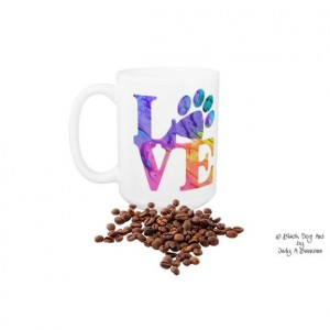 Dog Lover Mug - Love Paw Print 4P - Pet Lover - Dog Lover Gift - Cat Lover Mug - Pet Lover Gifts - Dog Coffee Mug - Cat Coffee Mug - Dog Mug