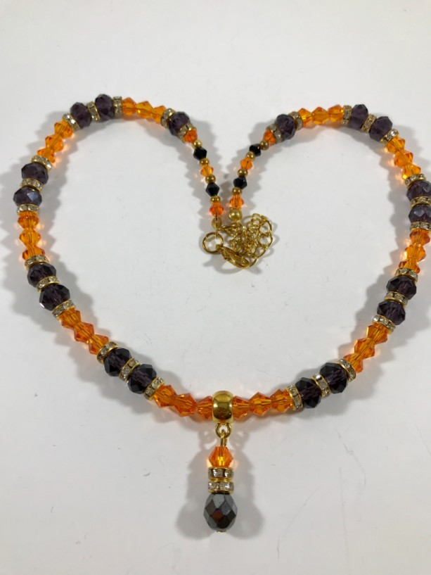Black & Orange bead necklace