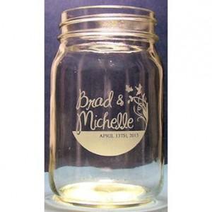 Custom Wedding Mason Jar