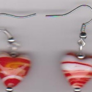 Red Hots Pierced Earrings