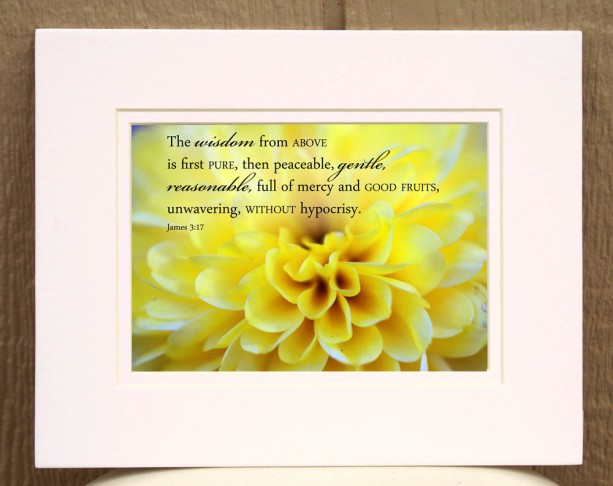 Yellow Chrsanthemum Photo with Scripture Art | aftcra