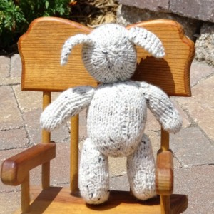 Baby Toy, Hand Knitted Lamb, Toy with Heart, Baby Shower Gift,  Stuffed Lamb, Baby Lamb, Newborn Toy
