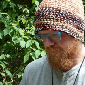 Handmade Double Crochet Hat (tan and brown)