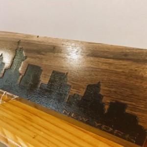 Wooden New York City Skyline